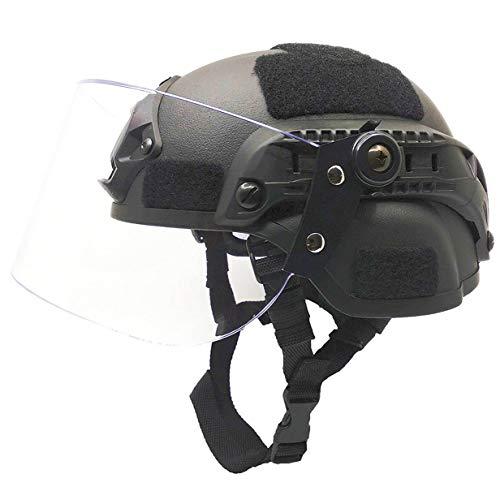 Airsoft MICH 2000 ACH Casque tactique avec visière transparente et rail latéral 2