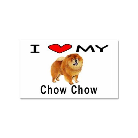I Love My Chow Chow Rectangular Magnet