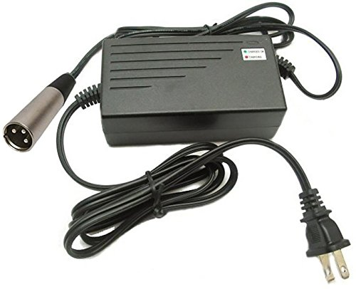 LotFancy 24V 2A Scooter battery Charger with XLR connector for Ezip Mountain Trailz Schwinn 4.0 S400 S500 Jazzy Power Chair