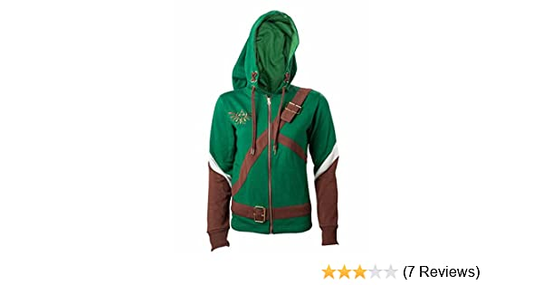 Amazon.com: Legend of Zelda Official Womens Cosplay Link Costume Style Hoodie: Clothing