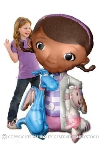 (DOC MCSTUFFINS BALLOON BIRTHDAY PARTY AIRWALKER 52 154CM BALLOON DECORATIONS SUPPLIES STANDS MOVES AROUND by Anagram by)