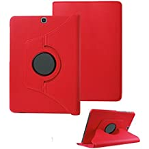 Galaxy Tab S2 8.0 inch Case - SAVYOU 360 Degree Rotating PU Leather Stand Folio Case Cover for Samsung Galaxy Tab S2 8.0 Inch, SM-T710 / T715, 2015 Version (Red)