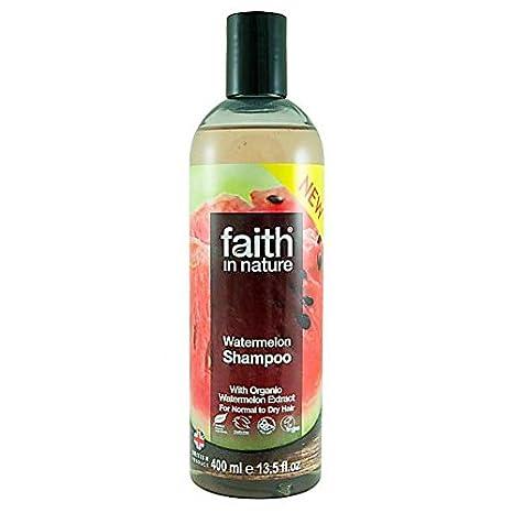FAITH IN NATURE - Champú de Sandía - Limpiador energizante para todo tipo de cabellos -