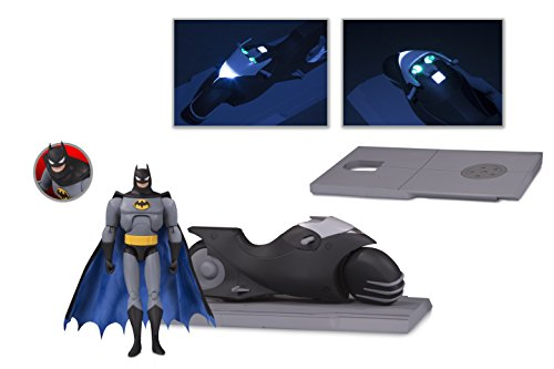 (DC Collectibles Batman The Animated Series: BATCYCLE & Batman Action Figure Set)