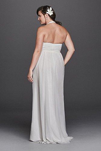 David Style Robe De Mariée Licol Taille Plus Gaine En Mousseline De Soie Mariée 9sdwg0394 Blanc