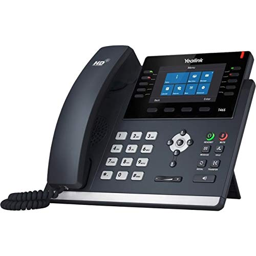 Yealink T46S-SFB IP Phone - Cable - Bluetooth - Wall Mountable - VoIP - Caller ID - Speakerphone - 2 x Network (RJ-45) - USB - P ()