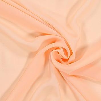Fabulous Fabrics Chiffon Stoff lachs – Weicher Chiffon Stoff zum Nähen von  Kleider, Blusen, 425ac023d2