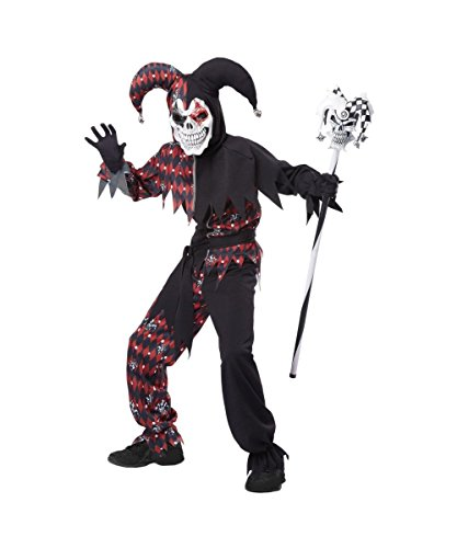Sinister Jester Child Costume Red - X-Large