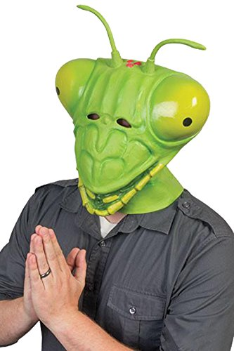 Praying Mantis Adult Costume Latex Mask (Insect Mask)