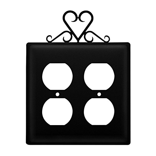 Wrought Iron Heart Double Outlet (Heart Outlet)