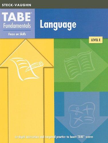 TABE Fundamentals: Test Workbooks Language Arts Language Arts