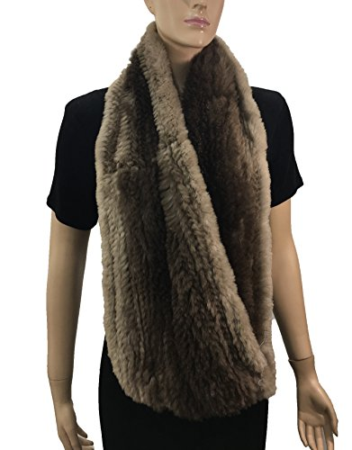HIMA 100% Beaver Fur Infinity Scarf/Neck Warmer (Infinity Scarf) by Hima