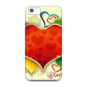 Awesome Design Loving Heart Valentine Hard Cases Covers For Iphone 5c