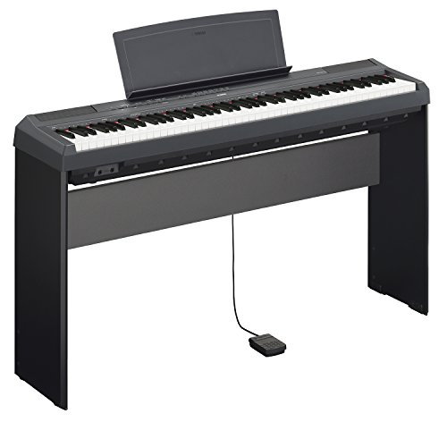 Yamaha P-115 Digital Piano - Black Bundle with Yamaha L-85 Stand, LP-5A Pedal, Furniture Bench, Inst - Image 3
