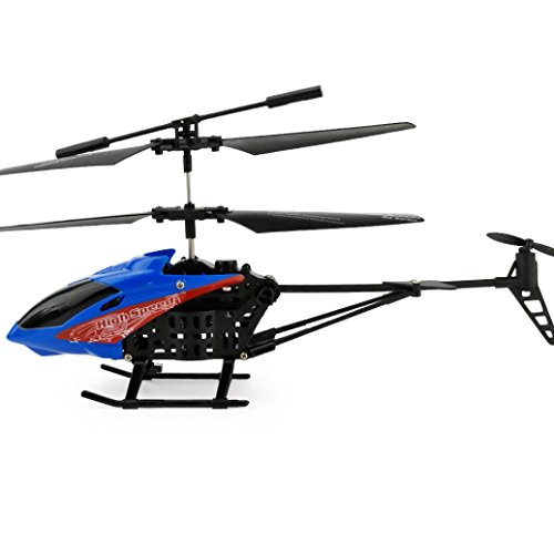 For Christmas,Sunfei JX-807 RC 2CH Mini Quadcopter Helicopter Micro Radio Remote Control Aircraft (Blue) (Rotor Plastic Tail Control)