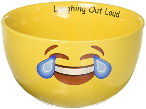 Mug Me I'm Famous CBE-507 Ceramic Soup/Cereal Emoji LOL Bowl, yellow