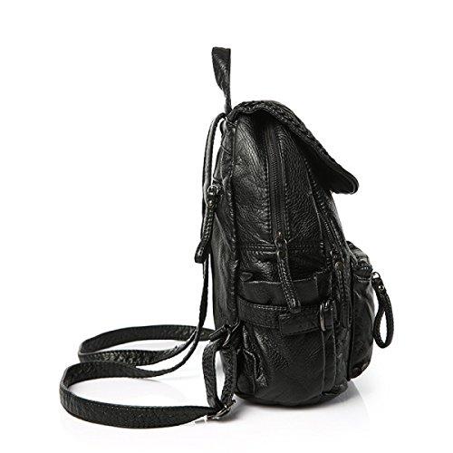 Gewaschenes Leder Schulter Handtaschen Freizeit Reisetasche