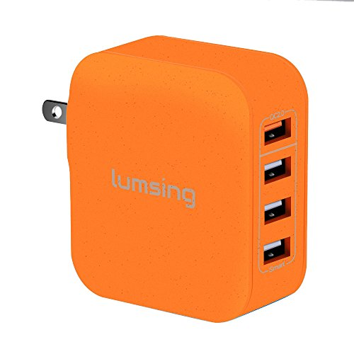 Lumsing Multi Port Charger Charging SmartPhones Orange