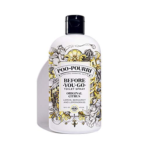 (PooPourri BeforeYouGo Toilet Spray 16 oz Bottle, Original Citrus)