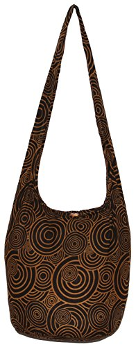 Circle Bohemian Hippie Shoulder Hobo Boho Cross Body Bag Purse (Brown) (Circle Hobo Bag)
