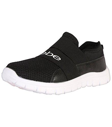 bebe Girls Slip On Lightweight Athletic Sneaker, Black, 2-3 M US Little Kid'