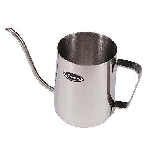 Long Narrow Spout Coffee Pot - Newness 304 Stainless Steel Hanging Ear Hand Blunt Pour Over Drip Pot for Coffee Maker, Hanging Ear Coffee Bag Lover, 1.37 Cup (11 Ounces, 330 Milliliter)