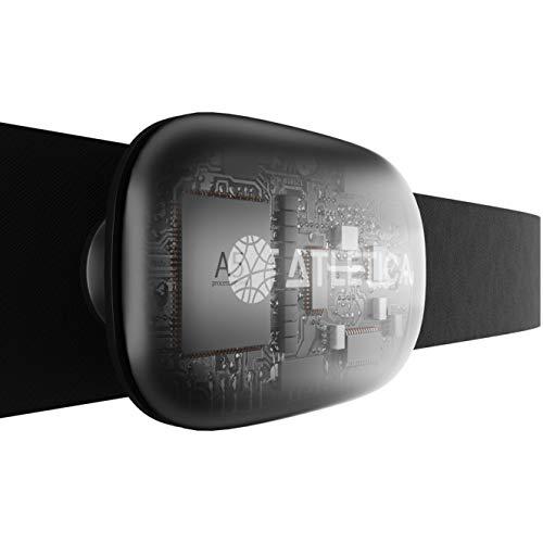 Atletica Sport borstband, ECG nauwkeurige meting van hartslag, pols en calorieverbruik . Compatibel met Garmin- en Polar…