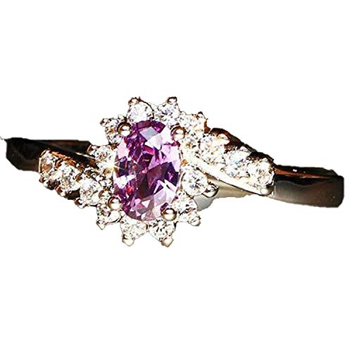 Crystal Stainless Steel Rose Golden Silver Rings for Women Female Fashion Jewelry,9,17