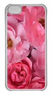 Customized iphone 5C PC Transparent Case - Wild Pink Roses Personalized Cover by mcsharks