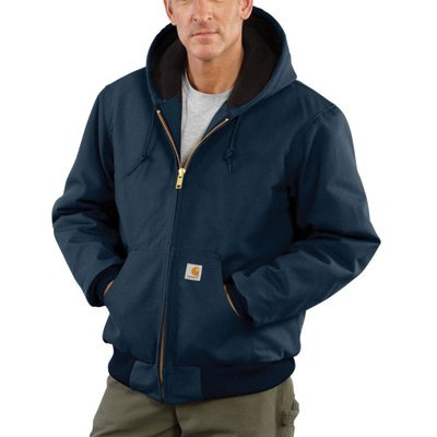 Carhartt J140DNYREG4XL 4X Regular Dark Navy Flannel Quilt Body Nylon Quilt Sleeves Lined 12 Ounce Heavy Weight Cotton Duck Active Jacket With Front Zipper Closure Triple-Stitched Seams (2) Lower Front Pockets And (2) Inside Pockets (1/EA)