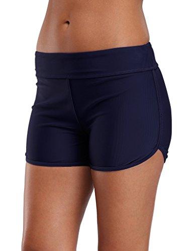 (ALove Board Shorts for Women Swimming Shorts Swim Bottoms Boardshorts Navy 8 )