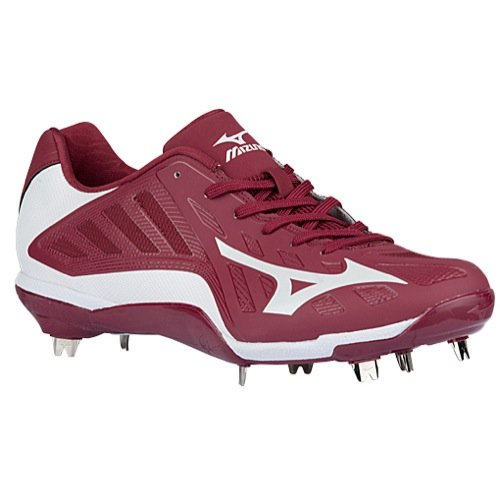 Mizuno Heist IQ MX Cleat - Men's Baseball Maroon/White
