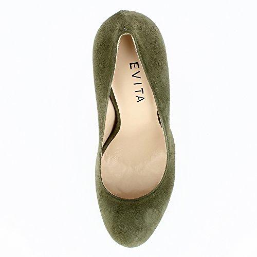 Evita Shoes Cristina Damen Pumps Rauleder Grün