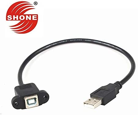 Cable Length: 5PCS, Color: Black Cables USB2.0 Print line Male to B Female Square line with Ear Extension Cable 0.5 m Extension Cord