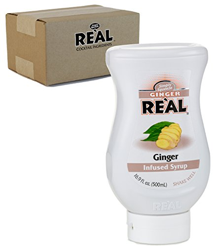 Ginger Reàl, Ginger Infused Syrup, 16.9 FL OZ Squeezable Bottle (Pack of -