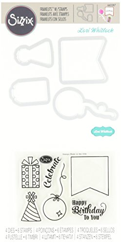 Set with Stamps Happy Birthday to You by Lori Whitlock (4 Pack) (Magnetic Stamp Set)