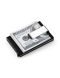 Artmi Credit Card Holder RFID Blocking Aluminum Business Card Holder Automatic Pop-up Card Case