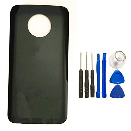 for Motorola Moto X4 Back Battery Glass Cover Rear Door Housing Case Replacement for Motorola X4 Battery Cover with Tools (Black)