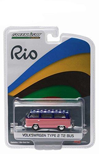 Volkswagen Type 2 Bus - 2016 World Games Rio Olympics Volkswagen Type 2 Bus Team USA 1/64 by Greenlight 51037-USA