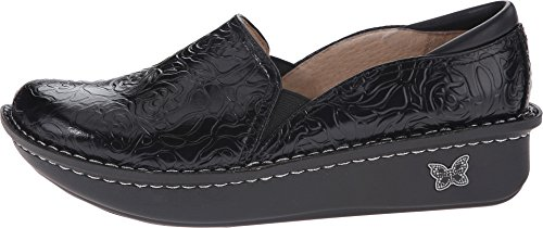 Alegria Women's debra Slip-On Black Emboss Rose Leather buy cheap price collections cheap price discount newest cheap 2015 new store sale online JLpmL86n