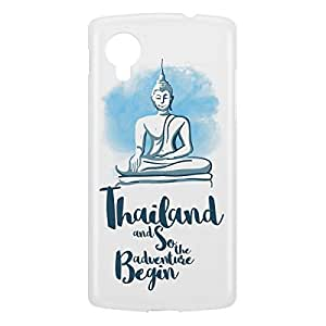 Loud Universe Nexus 5 Thailand And So The Adventure Begin Print 3D Wrap Around Case - White/Blue