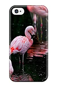 New Flamingos Tpu Skin Case Compatible With Iphone 4/4s