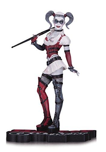 DC Collectibles Harley Quinn Arkham Asylum Statue, Red/White/Black