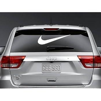 24 swoosh nike logo car window vinyl decal ipad laptop sticker color white