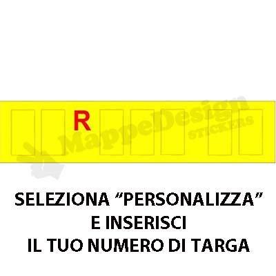 Mappedesign lettere per targa ripetitrice - carrelli appendice - rimorchi - scrivici la tua targa dopo l ordine