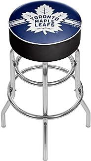 Trademark Gameroom NHL Chrome Bar Stool with Swivel-Toronto Maple Leafs