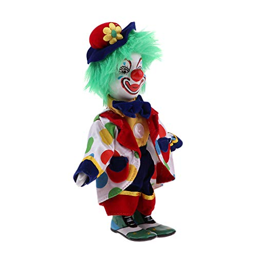SM SunniMix 18cm Porcelain Dolls Clown for Kids Birthday Gifts Toy Home Table Decoration -