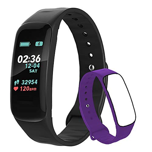 Fitness Tracker,Activity Tracker Watch with Heart Rate Blood Pressure Blood Oxygen Monitor,Waterproof Smart Fitness Band with Step Counter,Calorie Counter,Sleep Monitor for Kids Women and Men (VLT1)