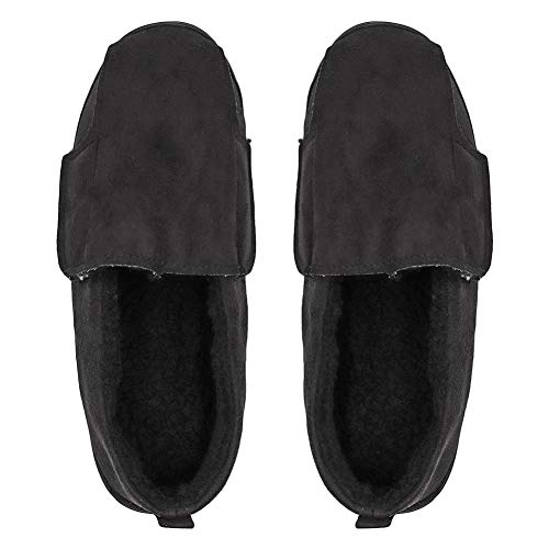 Orthopedic Adjustable Black Fit Flat Wide Edema Diabetic Bunions Feet Plantar Shoes Slippers Slipper Boot Fasciitis Extra Unisex wHzq1xtAap
