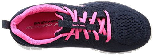 Connected Skechers Pink Graceful Azul para Navy Hot Mujer Get Zapatillas xrxEwHzS
